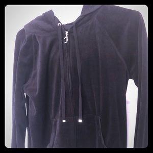 Juicy Couture Track suit jacket black  Large EUC